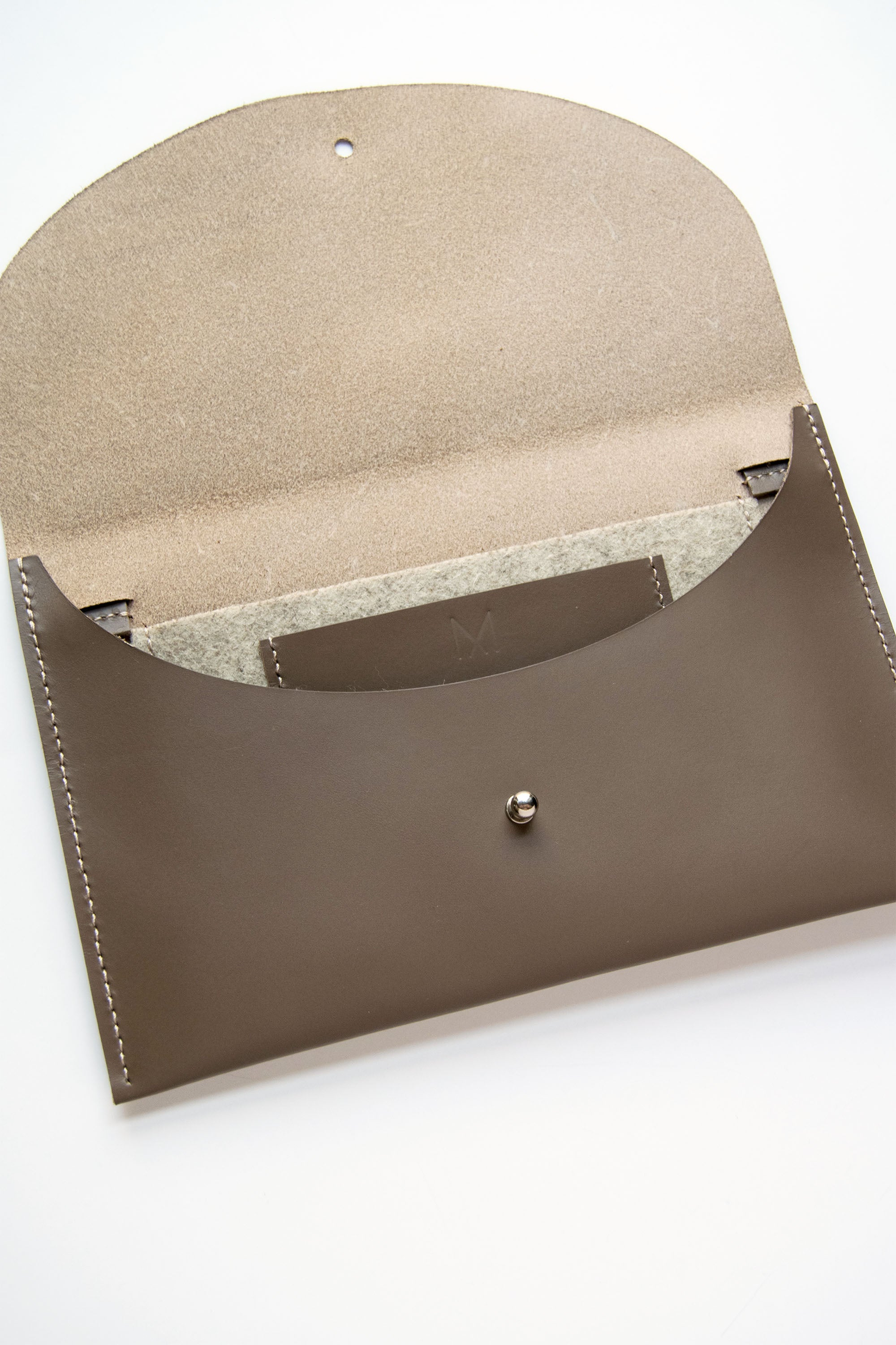 Leather Convertible Crossbody Clutch Bag