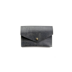 SAMPLE SALE - Geometric Card Holder in Slate Blue