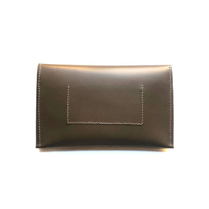 Half Moon Clutch in Taupe