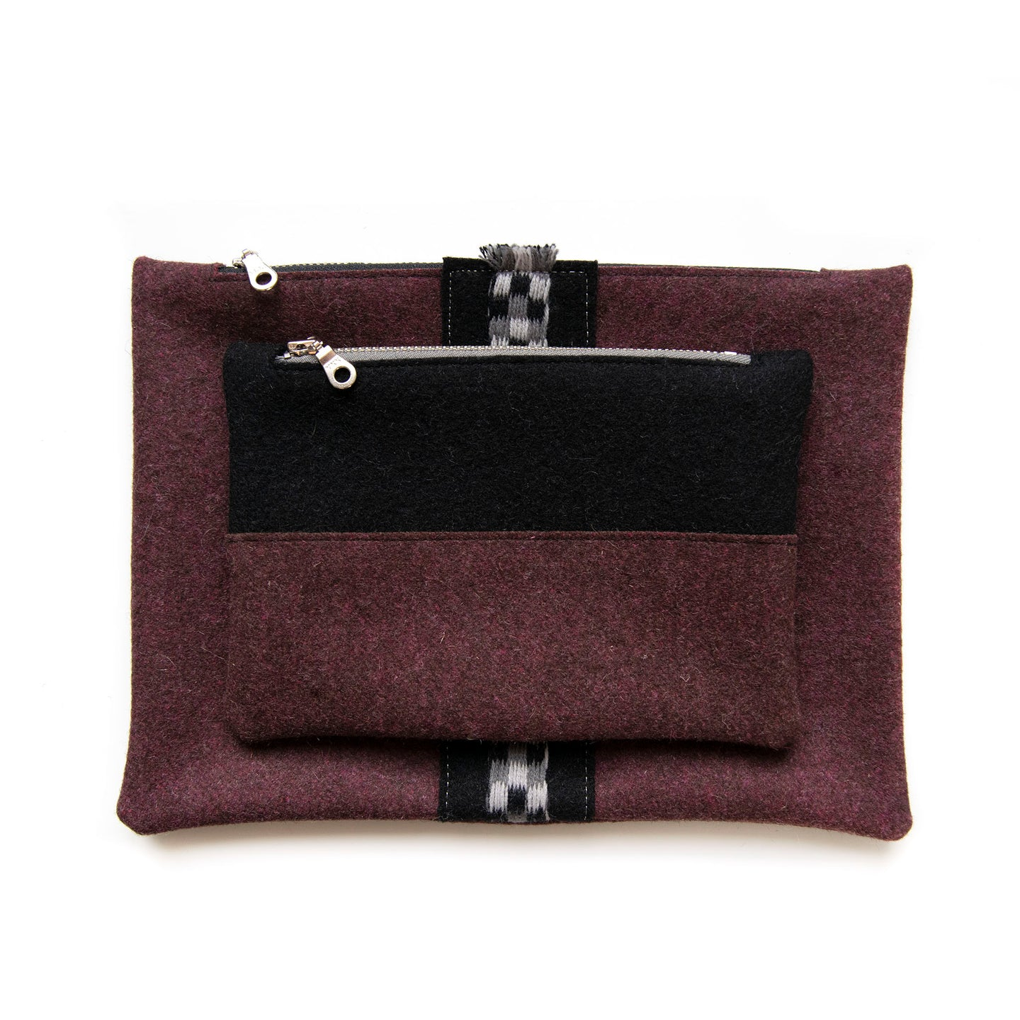 Cherry Wool Pouch Set (Color Block)
