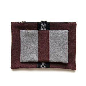 Cherry Wool Pouch Set (Gray)