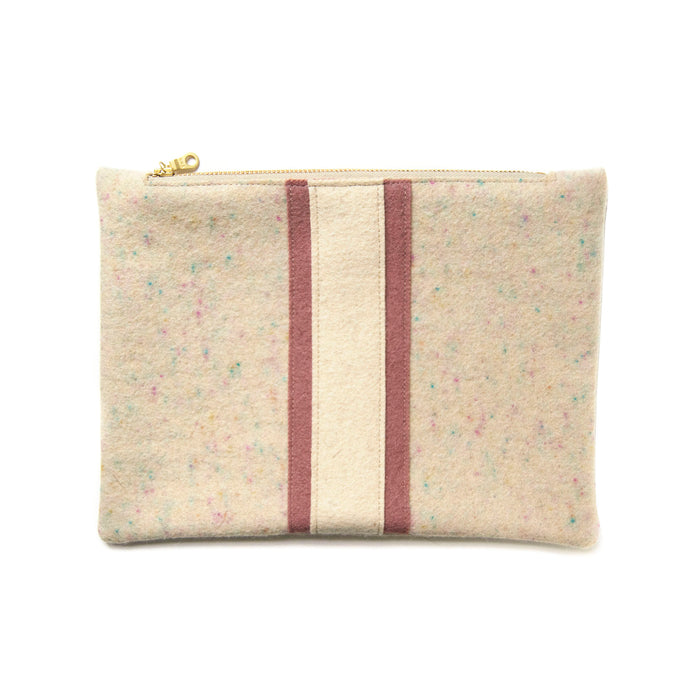 Wool Zip Pouch in Confetti