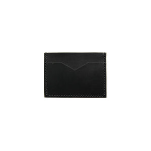 Slim Leather Card Holder in Black