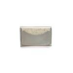 Load image into Gallery viewer, Half Moon Leather Card Holder in Pearl & Confetti