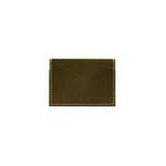 Load image into Gallery viewer, Slim Leather Card Holder in Olive Green