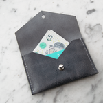 Load image into Gallery viewer, Geometric Leather Card Holder in Slate Blue
