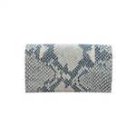 Load image into Gallery viewer, Small Leather Envelope Pouch in Snake Print