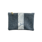 Load image into Gallery viewer, Snake Print Small Wool Zip Pouch