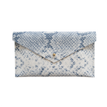Load image into Gallery viewer, Leather Envelope Clutch in Snake Print