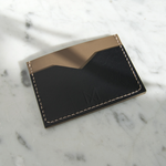 Load image into Gallery viewer, Slim Leather Card Holder in Black & Taupe