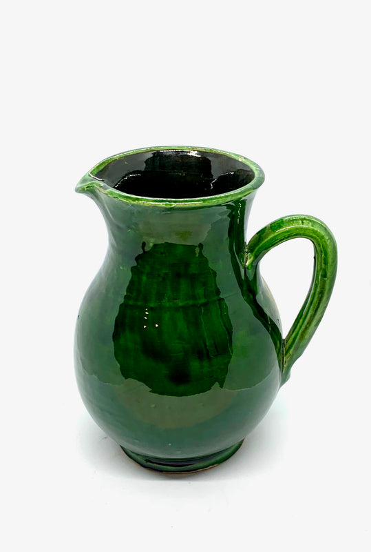 Green ceramic from Morocco Tamegroute handmade