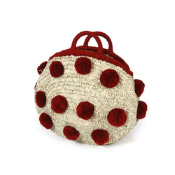 Palm leaf Bag with PomPom's