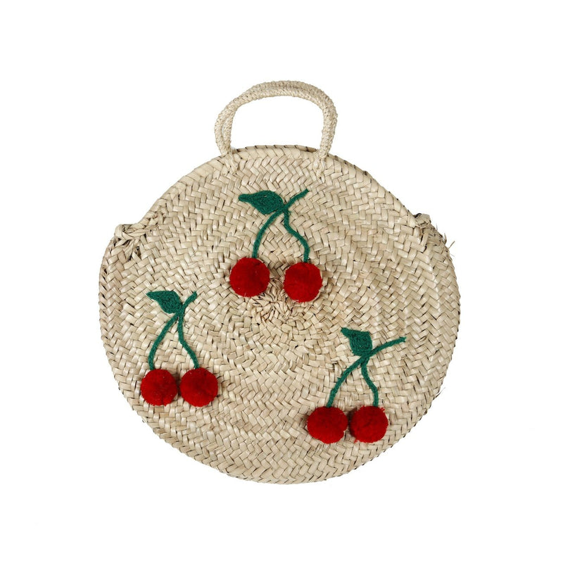 Palm leaf Bag with Cherries