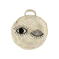 Palm leaf Bag with Sparkling Eyes