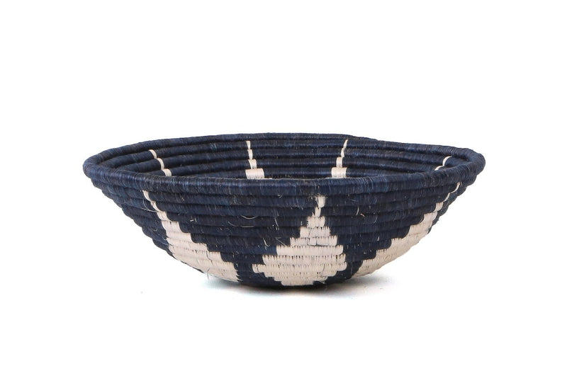 Raffia Bowl Blue Night Hope Large