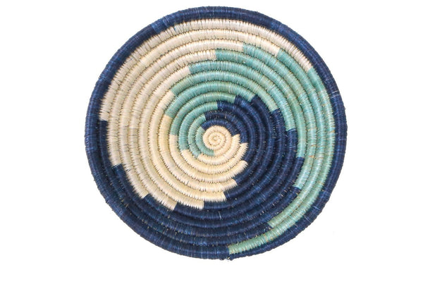 Raffia Bowl Silver Blue Unity Small
