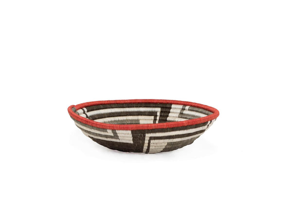 "Raffia Baskets Large ""Brown Sunset Bowl"""
