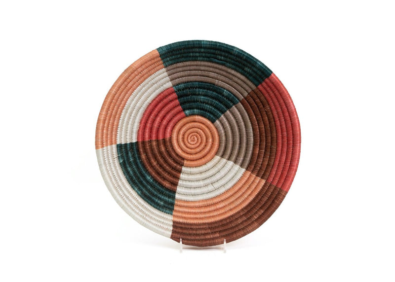 Raffia Coral & Clay Large Bowl