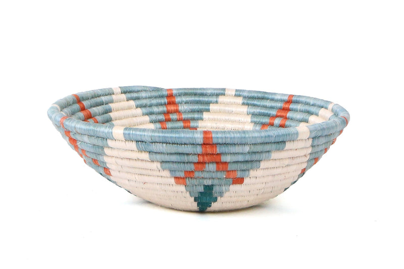 Raffia Dusk Blue & Melon Hope Bowl Large