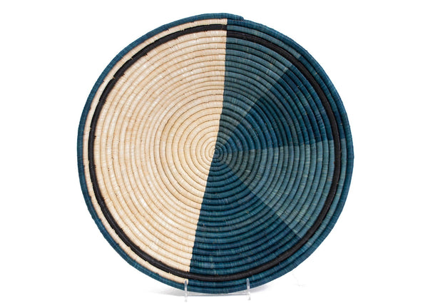 Raffia Bowl Cool Colour Blocked Jumbo