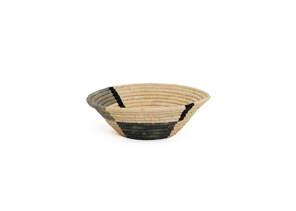 Raffia Bowl Opal Gray Geo Medium