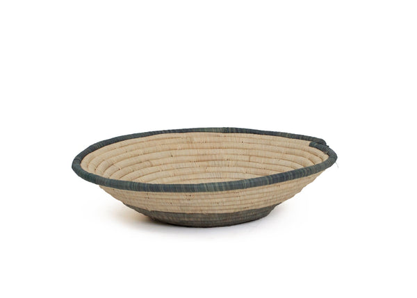 Raffia Bowl Opal Gray Geo XL