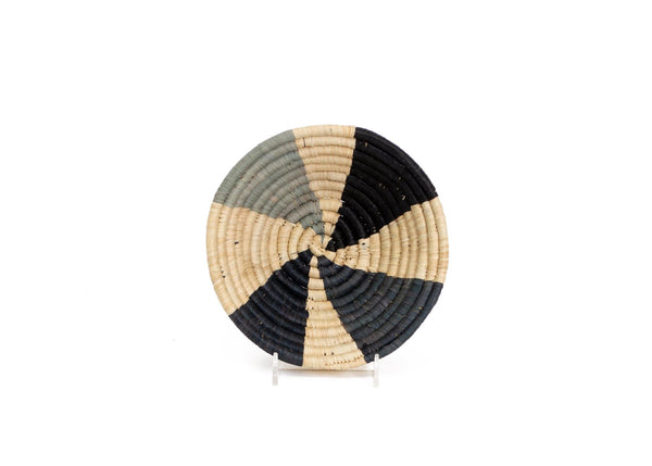 Raffia Bowl Opal Gray Wheel Small