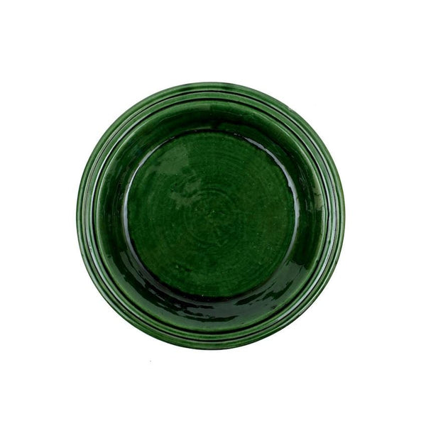 Green Ceramic Platter Large
