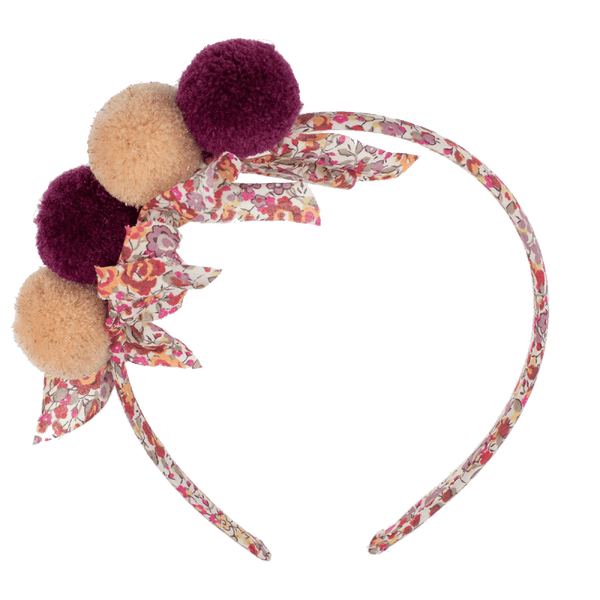 Hairbands Liberty's with PomPoms