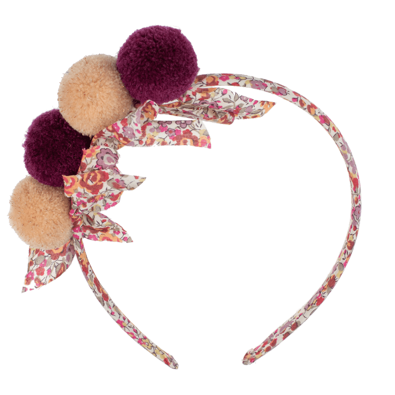 Liberty's hairbands with PomPoms