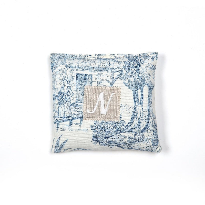 "Lavender Bag ""Toile de Jouy"", initialised."