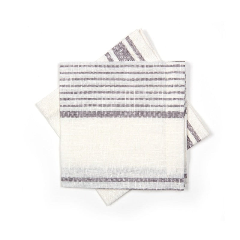 Napkins in Linen with stripes Set of 6
