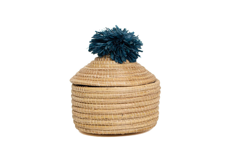 Raffia Penelope Pom Pom Box Medium