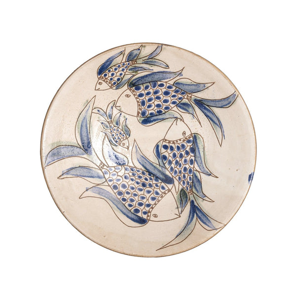 Ceramic Bowl large with Blue Fish