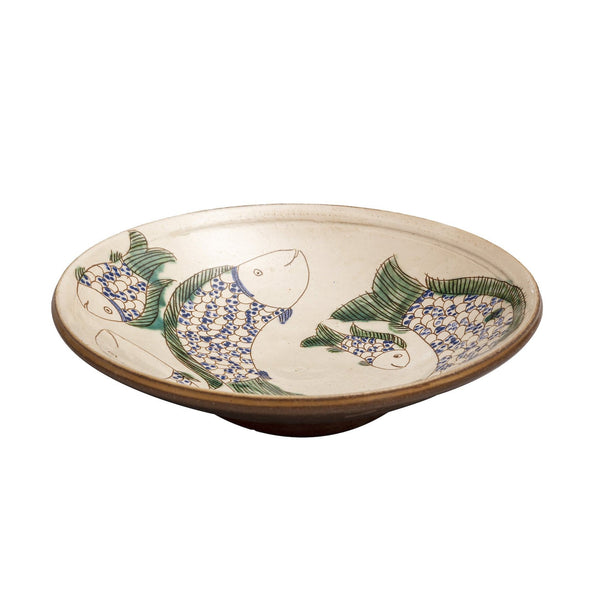 Ceramic Bowl large with Green Fish
