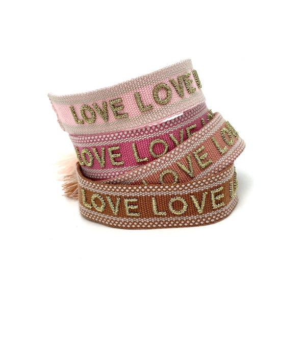 Friendship bracelet LOVE LOVE LOVE