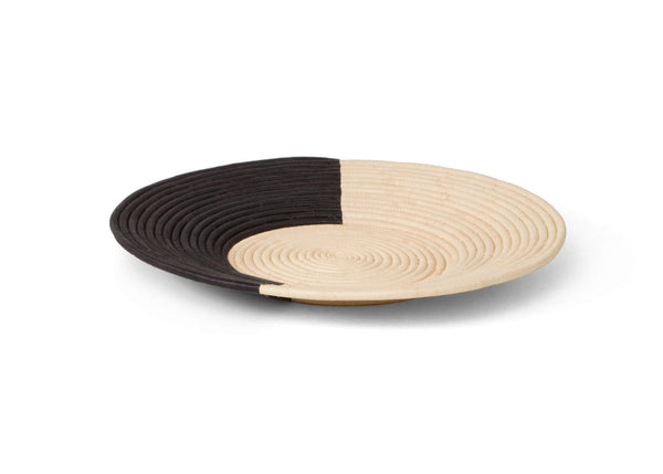 Raffia Geo Black & Natural Plate Medium