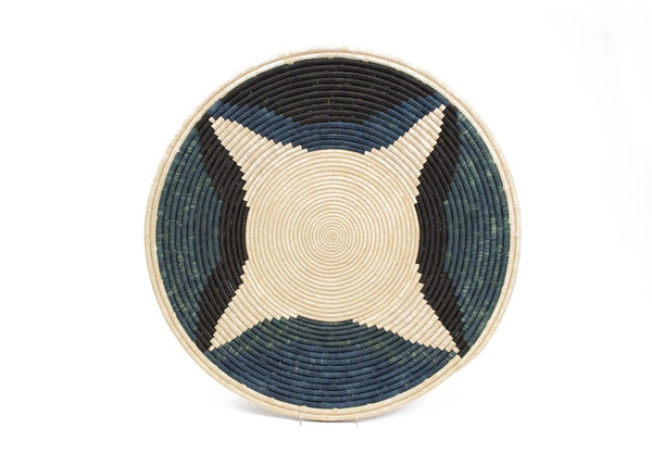Raffia Plate Cool Colour Blocked Plate Jumbo