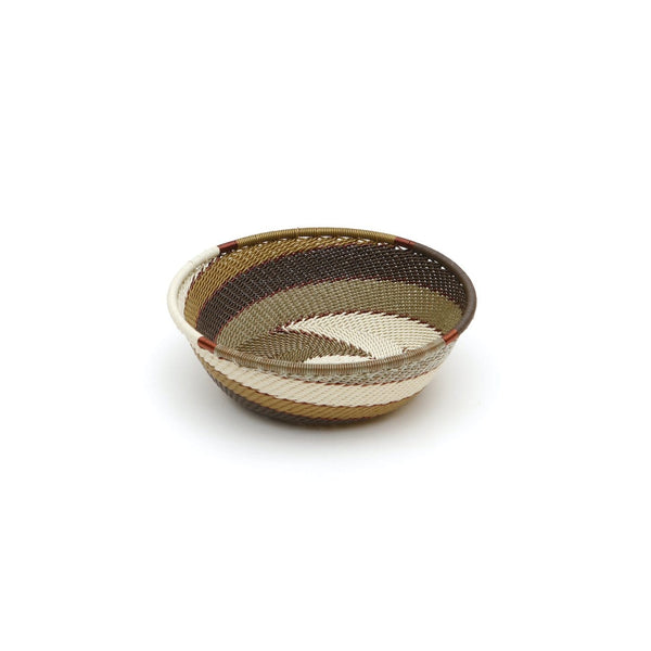 Handwoven Bowl  Shallow Small