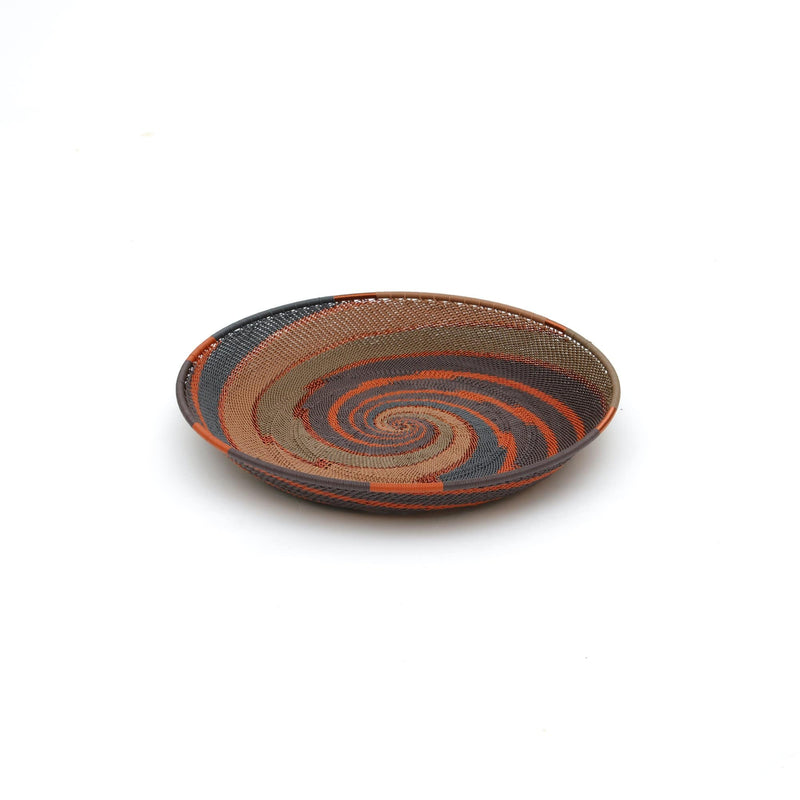 "Handwoven Round Tray ""Clay"""