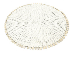 Placemats in Seagrass with Cowrie Shells