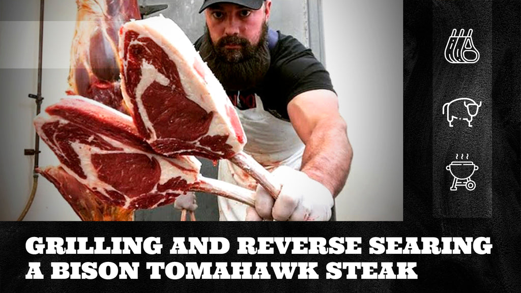 Grilling and Reverse Searing a Bison Tomahawk Steak