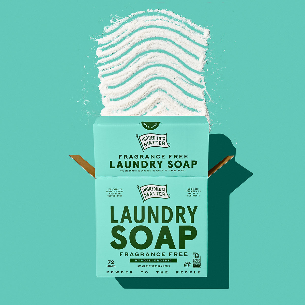 Fragrance free hypoallergenic natural laundry soap.