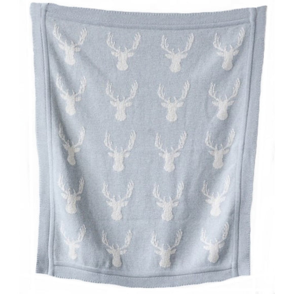Deer Cotton Knit Blanket