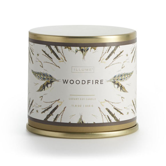 Illume Vanity Tin Woodfire