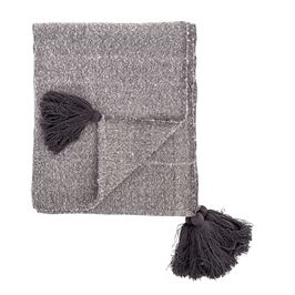 Cotton Woven Throw with Tassels