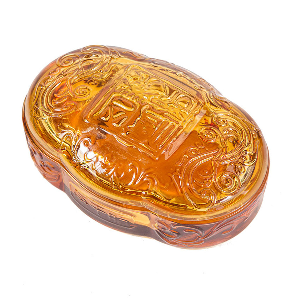 Clear Glass Amber Box
