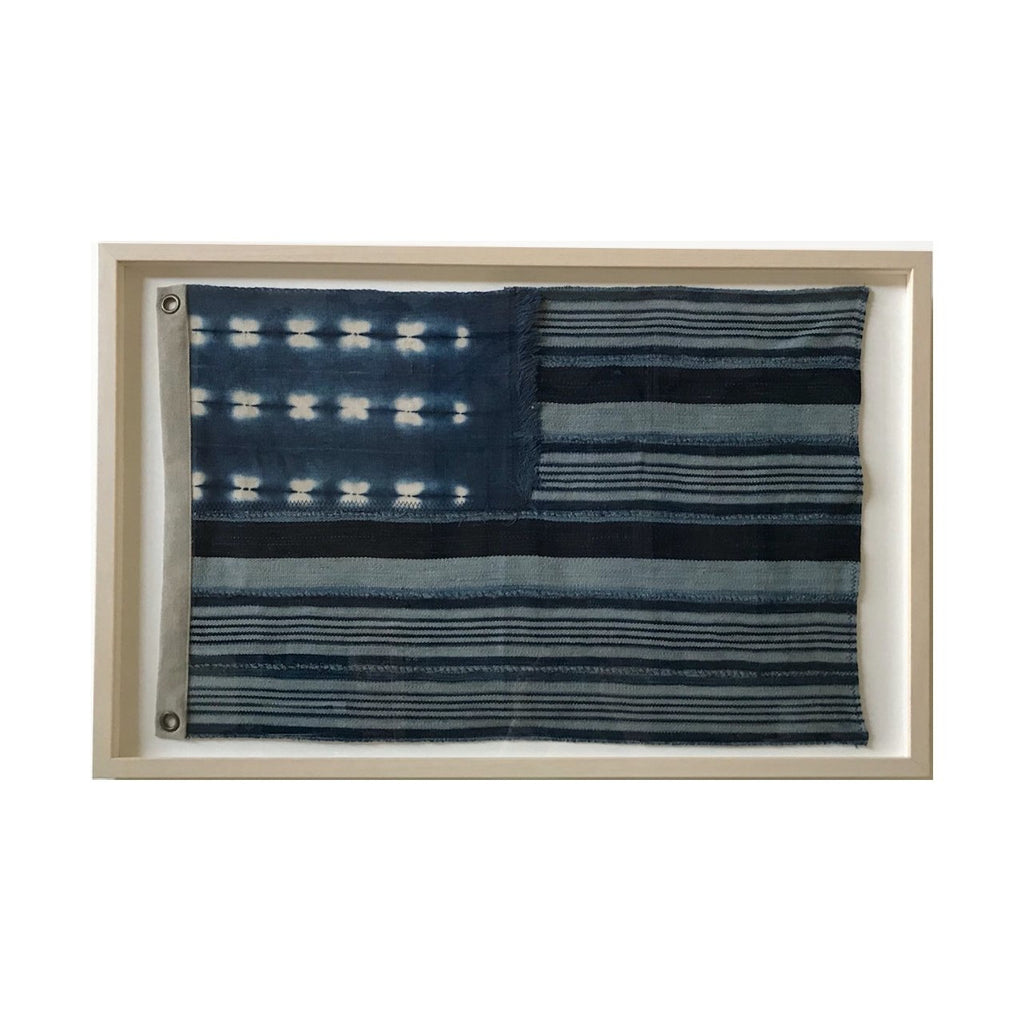 "US Indigo Flag Art 33""x21"""