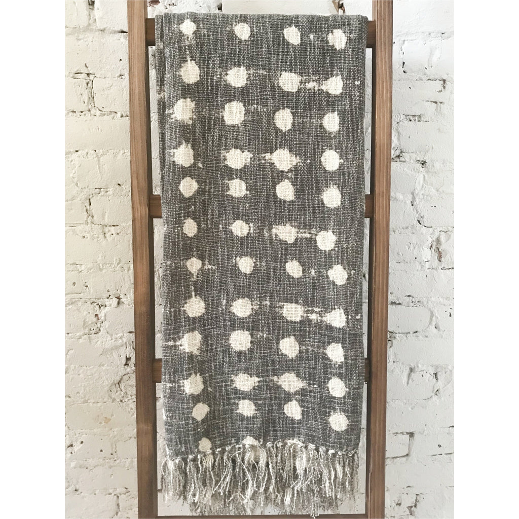 Cotton Slub Polka Dot Throw