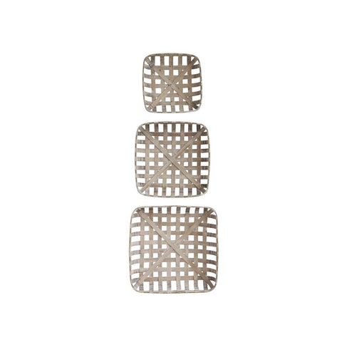 Set of 3 Square Baskets